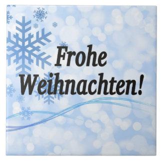 Frohe Weihnachten! Frohe Weihnachten in deutschem Fliese
