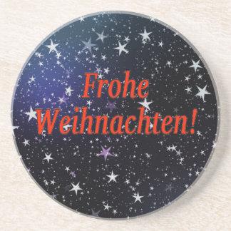 Frohe Weihnachten! Frohe Weihnachten in deutschem Getränke Untersetzer