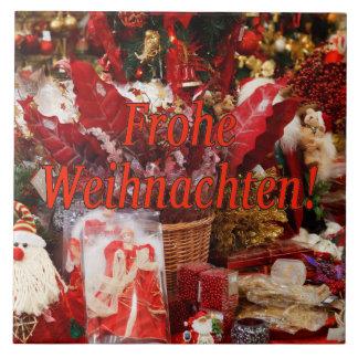 Frohe Weihnachten! Frohe Weihnachten in deutschem Keramikfliese
