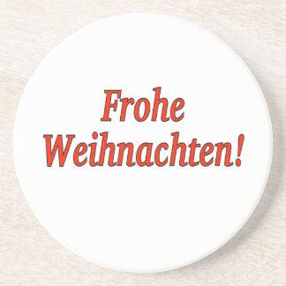 Frohe Weihnachten! Frohe Weihnachten in deutschem Untersetzer