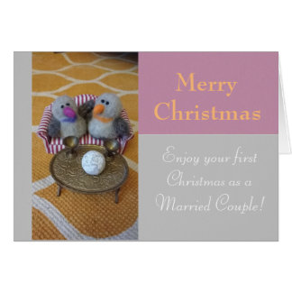 Frohe Weihnachten für ein eben Wedpaar Mitteilungskarte