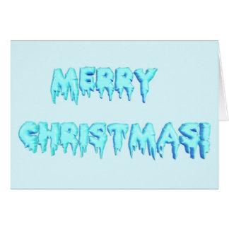 Frohe Weihnachten (gefrorenes Blau) Karte