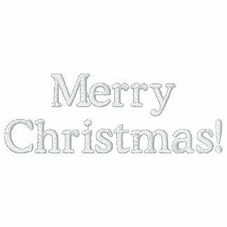 Frohe Weihnachten gestickte OM Fleece-Bahn-Jacke