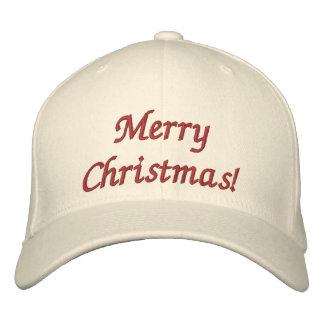 Frohe Weihnachten! Gestickter Hut Bestickte Kappe