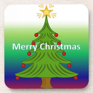 frohe Weihnachten Getränk Untersetzer