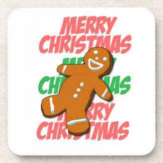Frohe Weihnachten Gingerman Untersetzer