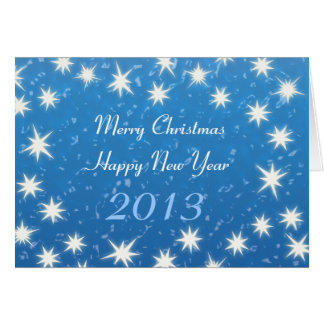 Frohe Weihnachten! Guten Rutsch ins Neue Jahr 2013 Karte