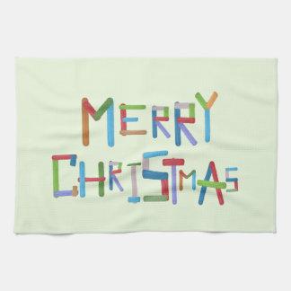 Frohe Weihnachten Handtuch