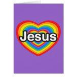 Frohe Weihnachten. I Liebe Jesus. Jesus-Herz Karten