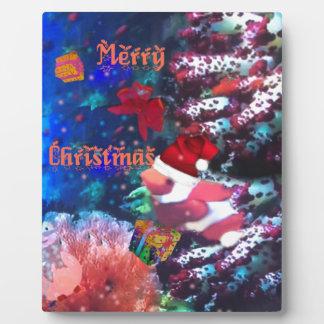Frohe Weihnachten im Aquarium Fotoplatte