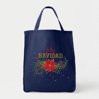 Frohe Weihnachten im spanischen Felis Navidad Tragetasche