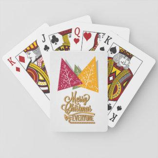 Frohe Weihnachten jeder, Christma Baum-Karten Spielkarten