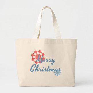 Frohe Weihnachten Jumbo Stoffbeutel