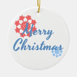 Frohe Weihnachten Keramik Ornament
