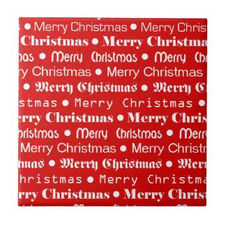Frohe Weihnachten Keramikfliese