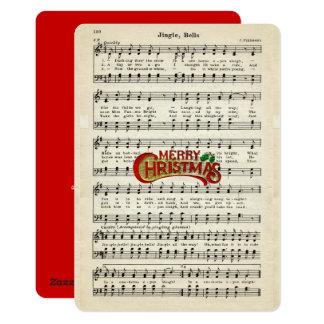 Frohe Weihnachten, Klingel Bell, Vintage Karte