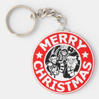 Frohe Weihnachten Krampus Logo Schlüsselanhänger