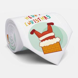 Frohe Weihnachten lustiger Weihnachtsmann fest im Krawatte