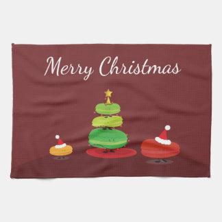 Frohe Weihnachten Macarons | Geschirrtuch