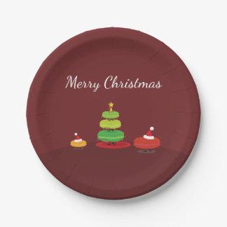Frohe Weihnachten Macarons   Pappteller