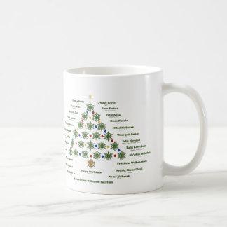 Frohe Weihnachten - mehrfache Sprachen Kaffeetasse