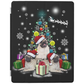 Frohe Weihnachten mit Mops-Hundetier iPad Smart Cover