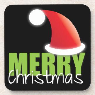 FROHE Weihnachten mit niedlicher Weihnachtsmannmüt Getränk Untersetzer