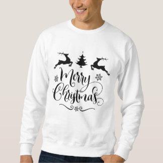 Frohe Weihnachten mit Rotwild-und Weihnachtsbaum Sweatshirt