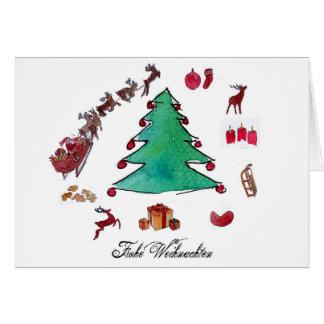 Frohe Weihnachten mit Tannenbaum Karte