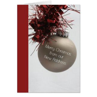Frohe Weihnachten - neue Adressen-Weihnachtskarte Karte
