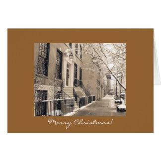 Frohe Weihnachten - New- York Citywinter-Schnee Karte