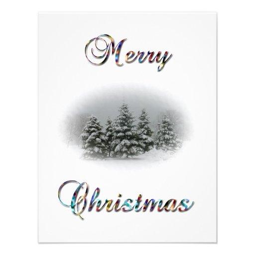 frohe weihnachten party schnee baum vignette 10 8 x 14 cm. Black Bedroom Furniture Sets. Home Design Ideas