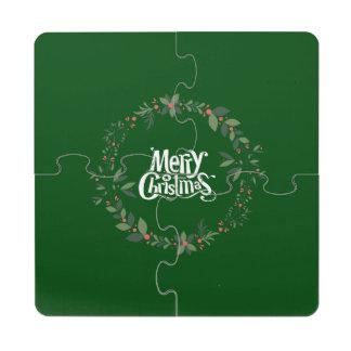 Frohe Weihnachten Puzzle Untersetzer