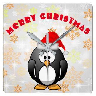 Frohe Weihnachten Quadratische Wanduhr