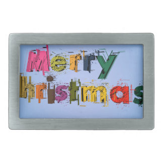 Frohe Weihnachten Rechteckige Gürtelschnallen