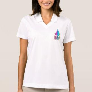 Frohe Weihnachten - Regenbogen-Weihnachtsbaum Polo Shirt