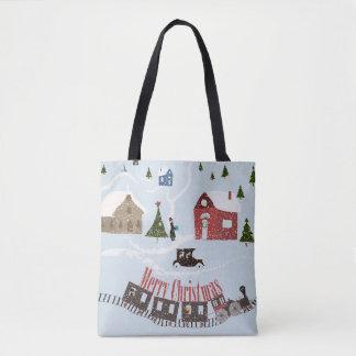 Frohe Weihnachten, Retro Tasche