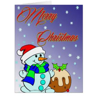 Frohe Weihnachten Riesige Grußkarte