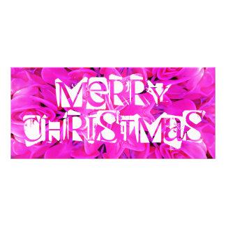 Frohe Weihnachten Rosagestellkarte Werbekarte