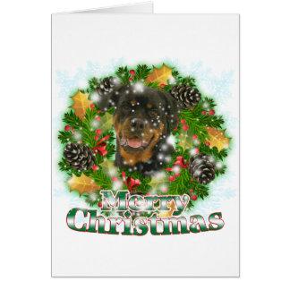 Frohe Weihnachten Rottweiler Karte