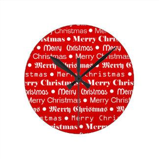 Frohe Weihnachten Runde Wanduhr