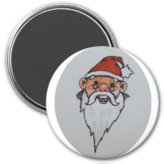 Frohe Weihnachten Runder Magnet 7,6 Cm