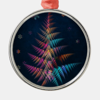 frohe Weihnachten Rundes Silberfarbenes Ornament