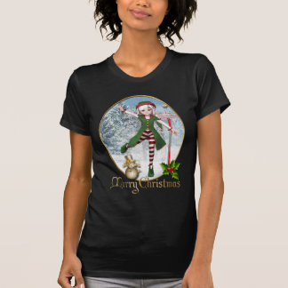 Frohe Weihnachten Sadie Elf-Frauen-T - Shirt