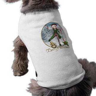Frohe Weihnachten Sadie Elf-Haustier-Kleidung Haustier T-shirts