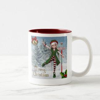 Frohe Weihnachten Sadie Elf-Tasse