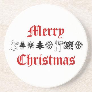 frohe Weihnachten Sandstein Untersetzer
