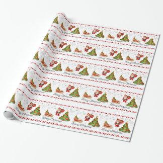 frohe Weihnachten Sankt Geschenkpapierrolle