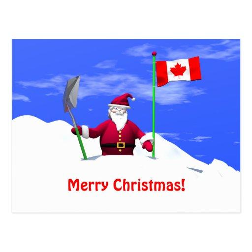 frohe weihnachten sankt in kanada postkarten zazzle. Black Bedroom Furniture Sets. Home Design Ideas