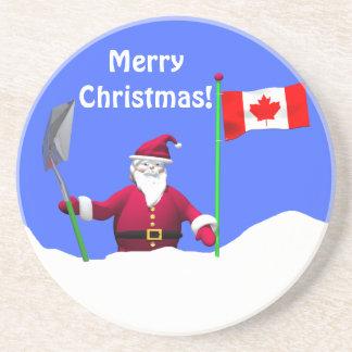 Frohe Weihnachten Sankt in Kanada Untersetzer
